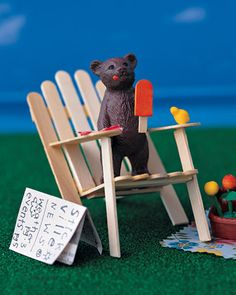 Easy Living Chair  Toy bears can kick back, relax, and enjoy an ice pop (from the snack shop, of course) after a long day.