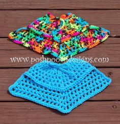 Posh Pooch Designs Dog Clothes: Summertime Dog Poncho Crochet Pattern