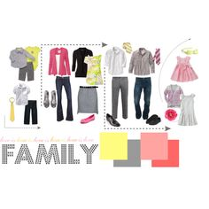 "Large family - great spring colors  ""Picture day outfit ideas: Love is Love collection"" by chaoticperspectives on Polyvore"