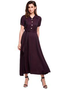Pink Roll Up Sleeve Sheer Chiffon Split Casual Maxi Shirt Dress ...