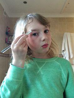 Eye shadow on eyebrows?!?!