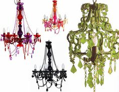 I love colorful chandeliers. :)