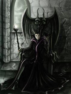Queen Maleficent by on DeviantArt Evil Disney, Dark Disney, Disney Love, Disney Magic, Maleficent Art, Maleficent Cosplay, Malificent, Maleficent Quotes, Dreamworks