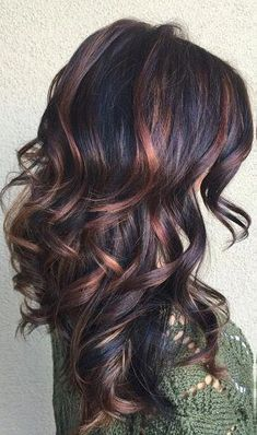 36 ideas for hair color curly highlights low lights - Fall Hair Colors Colored Curly Hair, Dark Curly Hair, Pinterest Hair, Hair Color Balayage, Bayalage, Ombre Hair, Gorgeous Hair, New Hair, Cool Hairstyles