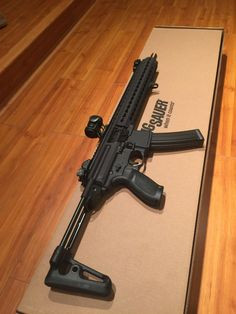 guns & puppies — that's a beauty! Sig MPX-C Tactical Rifles, Firearms, Shotguns, Weapons Guns, Guns And Ammo, Airsoft, Sig Mpx, Sig Sauer, Battle Rifle