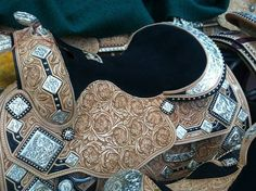 Custom Harris Leather & Silverworks Show Saddle