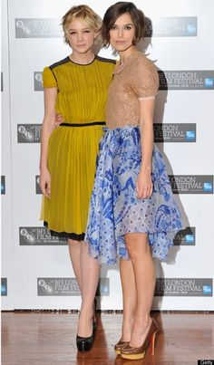 Kiera Knightley and Carey Mulligan! Two of my favorite actresses and they're both in one of my favorite movies, Pride and Prejudice!
