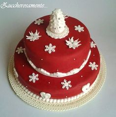 Christmas cake for my family  Cake by Zuccherosamente
