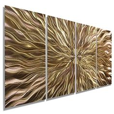 """Electrifying Modern Copper Earthtone Hand-Etched Metal Abstract Wall Art - Home Decor, Home Accent, Contemporary Metallic Wall Sculpture - Copper Static by Jon Allen - 51"""" x 24' Jon Allen Metal Art - Statements2000 http://smile.amazon.com/dp/B00SZ169TW/ref=cm_sw_r_pi_dp_ZhHWwb0P723RA"""