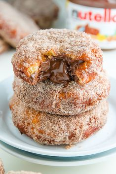 Nutella Cinnamon Sugar Doughnuts | Community Post: 19 Ooey Gooey Nutella Desserts That Are Better Than Sex