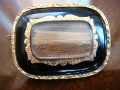 Vintage Antique Mourning Pin with Hair Gold by twirlswithpearls, $130.00