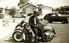 In honor of the 43rd annual Black Bikers Week in Murtle Beach, SC, a tradition among African American motorcycle engineers and enthusiasts (Temporary Pin): Motorcycle Dealer and Racer William Johnson. The 1st African American Harley-Davidson dealer (1920s) and 1st African American licensed to compete in national races.