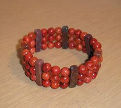 Genuine red sponge coral and red jasper by CreationsbyMaryEllen, $12.99