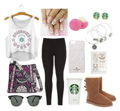 """""""Stereotypical girl"""" by wisteria-girl ❤ liked on Polyvore featuring UGG Australia, maurices, Vera Bradley, Ray-Ban, Alex and Ani, Kate Spade and Eos"""