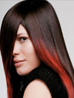 Red accents. Ask your stylist about partial extensions so you don't have to bleach out your natural hair first!