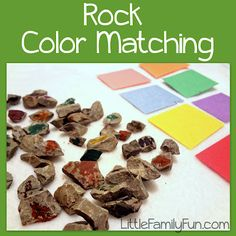 Nature Activity for kids. Paint/color on rocks and sort!