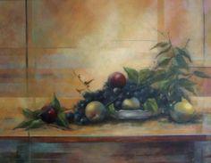 Naturaleza en siena Óleo sobre tabla. Àngeles Garrido. Pintora #arte#sevilla #realesalzazares #visitas #artistas #obrasdearte #pintura #color #oleo #acuarela #pastel #tecnicamixta #impresionismo #realismo #natualezamuerta # bodegón
