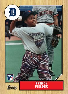 Prince Fielder Fielder was born right-handed, but at a very young age was converted to being a left-handed hitter by his father, Cecil Fielder. When his father played for Detroit, Prince would sometimes come along for batting practice. Fielder hit a home run into the upper deck of Tiger Stadium as a 12-year-old. (Wikipedia)