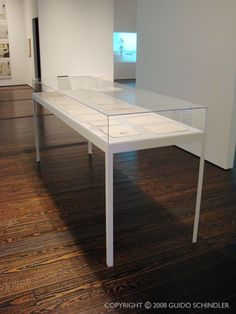 Museum Display Table 1  i need something like this, but i know i can't afford exactly this. ikea hack time!
