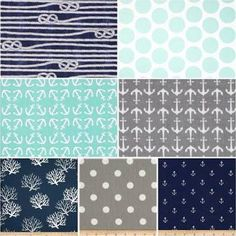 nautical fabric for baby