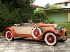 "doyoulikevintage: "" 1929 Packard Custom Eight Roadster """