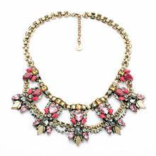 Exquisite Gem Embellished Alloy Necklace For Women