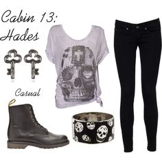"""""""Hades"""" by ellalea on Polyvore  i think hazel would like more color in this outfit."""