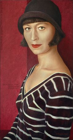 Portrait Katharina John, Photographer, 2004, Oil and Egg Tempera on Panel -  Manfred W. Juergens