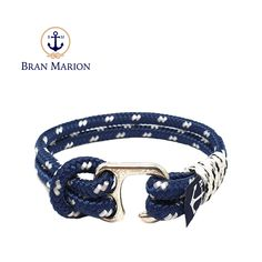 Grady Nautical Bracelet by Bran Marion Nautical Bracelet, Nautical Rope, Nautical Jewelry, Marine Rope, Azul Real, Crystal Beads, Crystals, Handmade Bracelets, Jewelry Collection