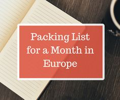 So you've decided to explore Europe? Each trip is different, but there are certain essentials that should be on your packing list!