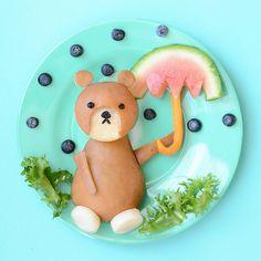 monoprix umbrella bear snack