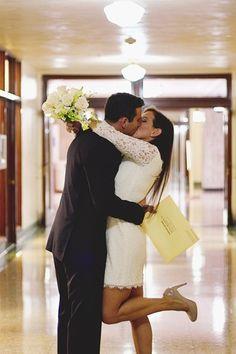 Simple Wedding Dresses Pic Ideas: A Heartfelt Courthouse Wedding Courthouse Wedding Photos, Wedding Pics, Trendy Wedding, Wedding Bells, Wedding Styles, Dream Wedding, Wedding Dresses, Wedding Ideas, Wedding Cards