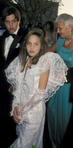 Angelina Jolie at the 1986 Academy Awards
