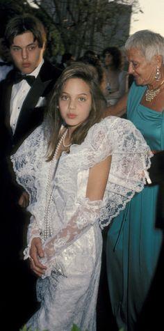 Angelina Jolie at the 1986 Academy Awards
