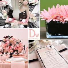 Black and pink wedding ideas