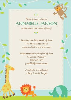 jungle animals shower invitations simple baby shower baby boy shower create baby shower invitations