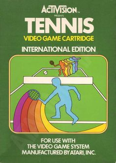 "Les ""Atari 2600 Rainbow Boxes"" d'Activision - Tennis - 1981"