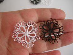 20 pcs black rosette Tatting lace  motif by flowersofparadise, $18.00. Looks easy!
