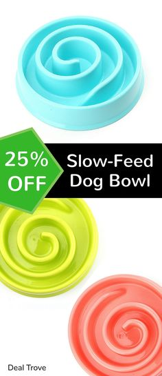 Did you know that when a dog eats his food too quickly, he's more likely to suffer from vomiting & other more serious problems? You can't just feed him a spoon at a time to make sure he doesn't eat his entire meal in less than 10 seconds, but what you can do is give them a slow-feed dog bowl. A slow-feed dog bowl is a bowl that has 'obstacles'. Those obstacles slow down his eating & help him eat slower so he doesn't damage his health. Click this pin to get 25% OFF yours (first 99 customers…