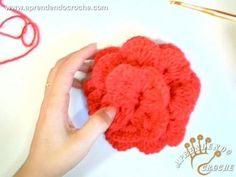 Flor Espiral em Crochê - Aprendendo Crochê