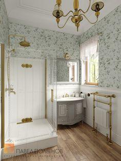 Фото: Душевая комната - Интерьер загородного дома в стиле легкой классики, КП «Альпино», 430 кв.м.