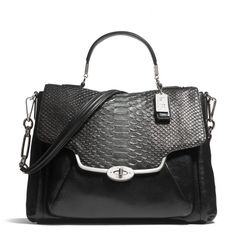 fd4ea7e0d17dfb The Madison Sadie Flap Satchel In Glitter Python from Coach - My next