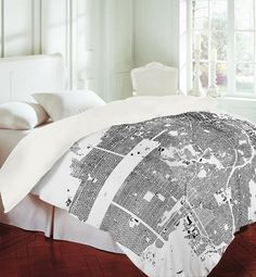 Sleep Study  A custom-printed duvet cover lets your mind wander the streets of San Francisco.    SHOP NOW: CityFabric Duvet Cover, $169