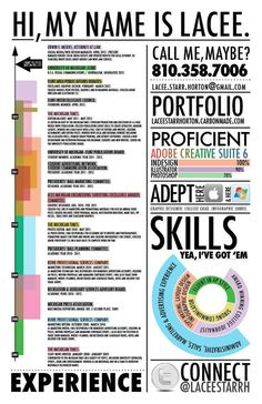Resume by Lacee-Starr Horton, via Behance