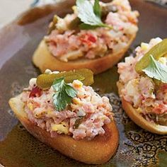 Classic Ham Salad gets a new look atop toasted crostini, but it's just as delicious sandwiched between two slices of bread.