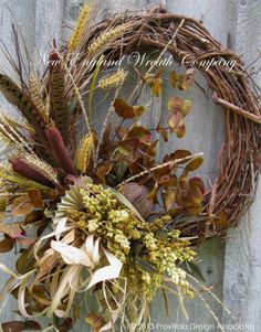 Fall Wreath Woodland Wreath Autumn Decor by NewEnglandWreath