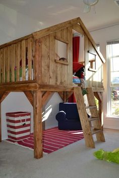 Super Fun Kids Room~treehouse Style Fort... Would Love, Love, Love This For  My Bb | Tu0027Leeu0027s Room | Pinterest | Treehouse, Forts And Kids Rooms