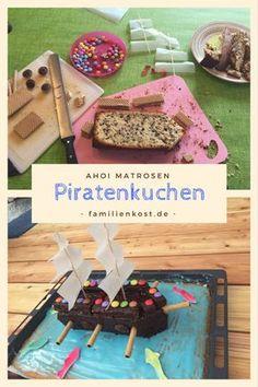 Ihr feiert eine Piratenparty zum Kindergeburtstag und sucht noch den perfekten Geburtstagskuchen für die Kinder? Dann probiert doch dieses Piratenschiff aus Rührkuchen, das nicht schwer zu backen ist. Bei uns war der Piratenkuchen sowohl zu Hause als auch im Kindergarten der Renner (nicht nur bei Jungs) und ich teile gern das Rezept mit euch: http://www.familienkost.de/rezept_piratenkuchen.html