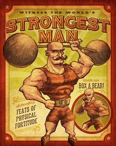 strongman circus sign - Google Search