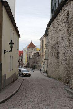 The streets were often real narrow in Tallinn, Estonia...